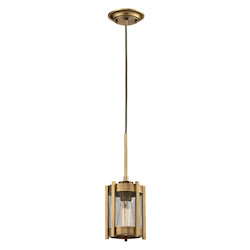 Rialto Collection 1 Light Mini Pendant In Aged Brass - ELK Lighting 31482/1
