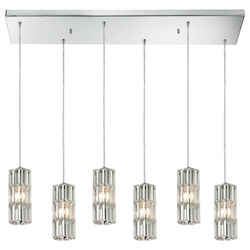 Cynthia Collection 6 Light Chandelier In Polished Chrome - 135010