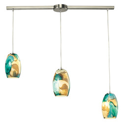 Surreal (Existing) Collection 3 Light Chandelier In Satin Nickel - 135039