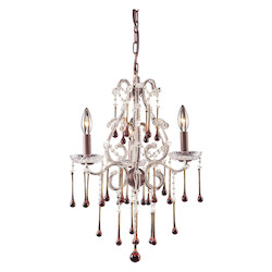Three Light Rust Up Chandelier - ELK Lighting 4011/3AMB
