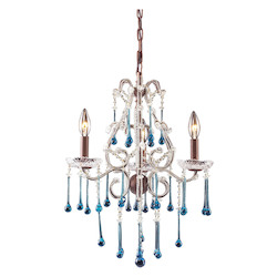 Three Light Rust Up Chandelier - ELK Lighting 4011/3AQ