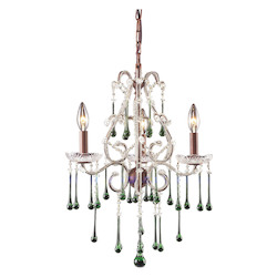 Three Light Rust Up Chandelier - ELK Lighting 4011/3LM