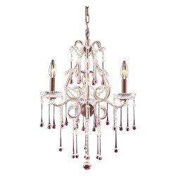 Three Light Rust Up Chandelier - ELK Lighting 4011/3RS