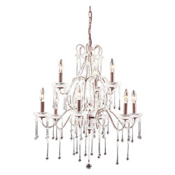 Nine Light Rust Up Chandelier - ELK Lighting 4013/6+3CL