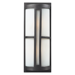 Two Light Graphite Outdoor Wall Light - ELK Lighting 42396/2-LED
