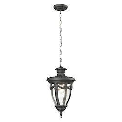 Anise Collection 1 Light Outdoor Pendant In Textured Matte Black - ELK Lighting 45078/1