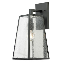 Meditterano Collection 1 Light Outdoor Sconce In Textured Matte Black - ELK Lighting 45091/1