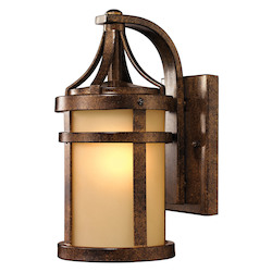 Winona Collection 1 Light Outdoor Sconce In Hazelnut Bronze - ELK Lighting 45095/1