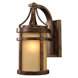 Winona Collection 1 Light Outdoor Sconce In Hazelnut Bronze - ELK Lighting 45096/1
