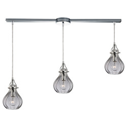 Danica (Existing) Collection 3 Light Chandelier In Polished Chrome - 135491