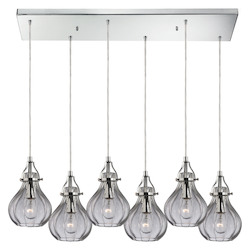 Danica (Existing) Collection 6 Light Chandelier In Polished Chrome - 135492