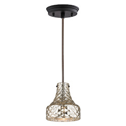 Danica (Existing) Collection 1 Light Mini Pendant In Oil Rubbed Bronze - ELK Lighting 46023/1