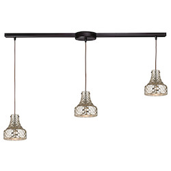 Danica (Existing) Collection 3 Light Chandelier In Oil Rubbed Bronze - ELK Lighting 46023/3L