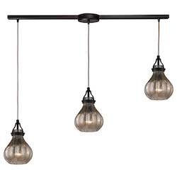Danica (Existing) Collection 3 Light Chandelier In Oil Rubbed Bronze - 135518