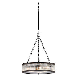 Linden Collection 3 Light Pendant In Oil Rubbed Bronze - ELK Lighting 46135/3