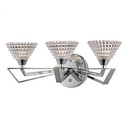 Frenzy Collection 3 Light Bath In Polished Chrome - ELK Lighting 46152/3