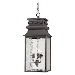 Forged Lancaster Collection 3 Light Outdoor Pendant In Charcoal - ELK Lighting 47066/3