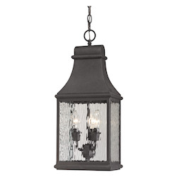 Forged Jefferson Collection 3 Light Outdoor Pendant In Charcoal - ELK Lighting 47074/3