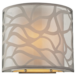 Autumn Breeze Collection 1 Light Sconce In Brushed Nickel - 135943