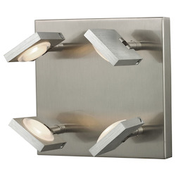 Reilly Collection 4 Light Sconce In Brushed Nickel/Brushed Aluminum - ELK Lighting 54013/4