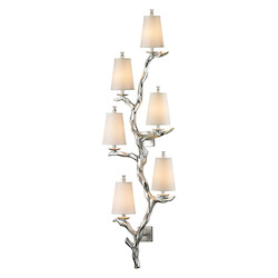 Sprig Collection 6 Light Sconce In Silver Leaf - ELK Lighting 55005/6