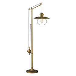 Farmhouse Antique Brass Floor Lamp - 136831
