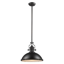 One Light Oiled Bronze Down Pendant - ELK Lighting 66138-1-LED