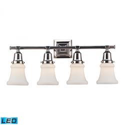Four Light Polished Nickel Vanity - ELK Lighting 66233-4-LED