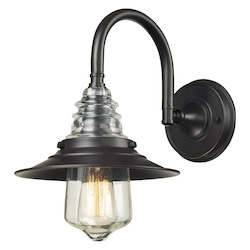 One Light Oiled Bronze Wall Light - 137188