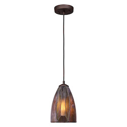 One Light Burnished Copper Down Mini Pendant - ELK Lighting 70046-1-LED