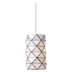 One Light Polished Chrome Drum Shade Mini Pendant - 137414