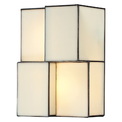 Cubist Collection 2 Light Sconce In Brushed Nickel - ELK Lighting 72060-2-LED