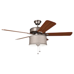 Ellington Fan Silk Shade Light Kit - LKE227KP