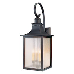 Four Light Slate Pale Cream Seeded Glass Wall Lantern - Savoy House 5-257-25