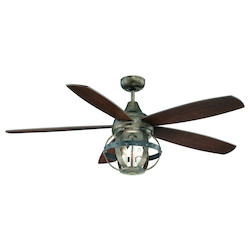 Three Light Reclaimed Wood Ceiling Fan - Savoy House 52-840-5CN-196