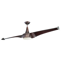 One Light White Frosted Glass Byzantine Bronze Ceiling Fan - Savoy House 68-818-2WA-35