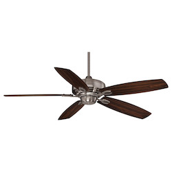 Three Light Brushed Pewter Ceiling Fan - Savoy House 52-830-5RV-187