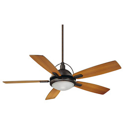 One Light English Bronze White Frosted Halophane Glass Ceiling Fan - Savoy House 54-220-5RV-13