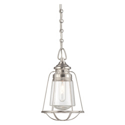 One Light Satin Nickel Clear Glass Down Mini Pendant - Savoy House 7-5060-1-SN