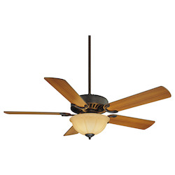 Three Light English Bronze Cream Frosted Glass Ceiling Fan - Savoy House 52-SGB-5RV-13