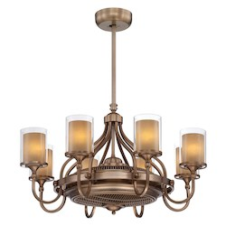 Eight Light Burnished Russett Clear Outter Cream Inner Glass Ceiling  - Savoy House 36-329-FD-21