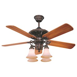 Four Light New Tortoise Shell Ceiling Fan - Savoy House 52-500-5WA-56