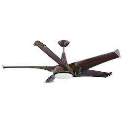 One Light White Frosted Glass Byzantine Bronze Ceiling Fan - Savoy House 58-818-5WA-35