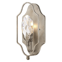 One Light Argentum Crystal Clear Wall Light - Savoy House 9-8172-1-211