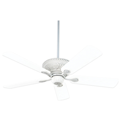 Textured White Ceiling Fan - Savoy House 52-850-5RV-TW