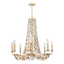 Eight Light Antique Gold Up Chandelier - Crystorama 568-GA