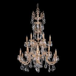 Olde Brass Novella 18 Light 40in. Wide 2 Tier Cast Brass Candle Style Chandelier with Clear Swarovski Spectra Crystal