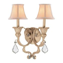 Two Light Champagne Wall Light - Crystorama 6602-CM-CL-MWP