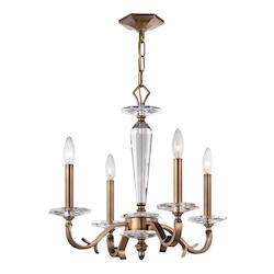 Four Light Roman Bronze Up Chandelier - Crystorama 2234-RB