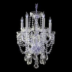 Traditional Crystal Collection 5-Light Polished Chrome Chandelier with Swarovski Spectra Crystal 1129-CH-CL-SAQ